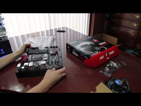 Intel G3258 and MSI H87 Motherboard Unboxing