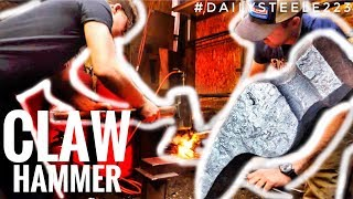 TEACHING A FRIEND HOW TO FORGE A CLAW HAMMER!
