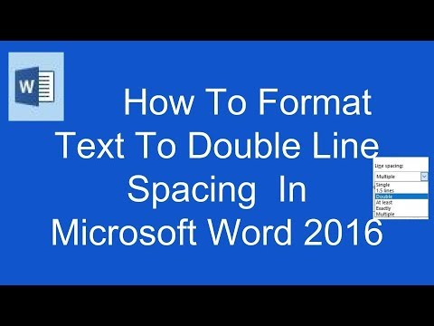 How To Format Text To Double Line Spacing In Microsoft Word 2016