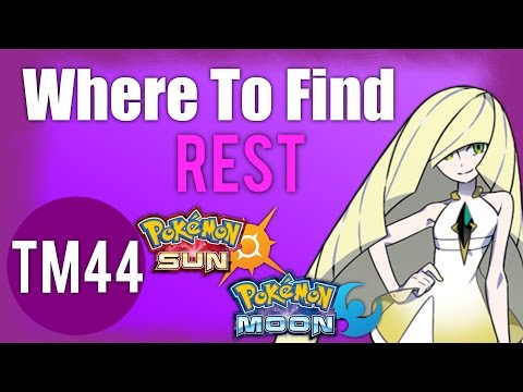 Where To Find Rest (TM44) | Pokemon Sun and Moon Guide