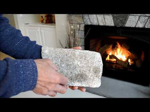 Natural Veneer Stone and Gas Fireplace Insert Installation
