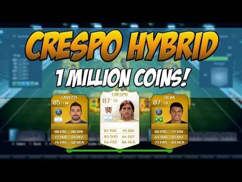 FIFA 14 - 1 Million Coin OP Legend Crespo Hybrid Team | Squad Builder #36