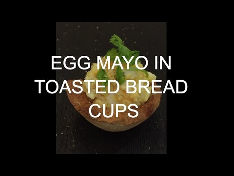 How to Make Egg Mayo Salad in Toasted Bread Cups