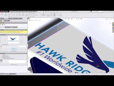 SOLIDWORKS - Creating an Image Mask File for Your Decals