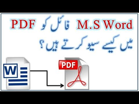 How To Save Easily Microsoft Word Documents As Pdf In Urdu |Office 2010|