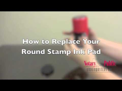 How to Replace Your Round Stamp Ink Pad