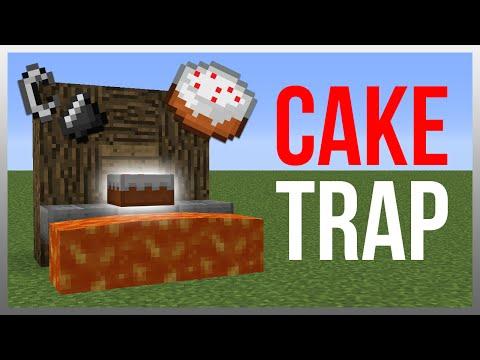Minecraft 1.12: Redstone Tutorial - Cake Lava TRAP!