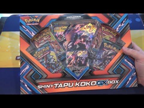 Pokemon Shiny Tapu Koko GX Box Unboxing