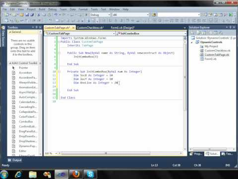 Create Controls Dynamically on Windows Forms Application (Visual Studio 2010)