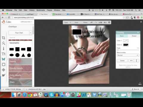How to Create a Pinterest Friendly Image in Picmonkey