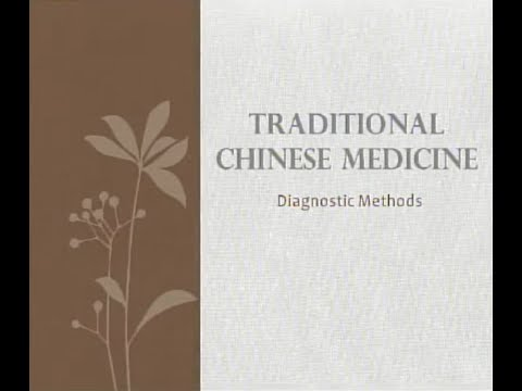 Chinese Medicine Diagnostic Methods - Traditional Chinese Medicine and Acupuncture