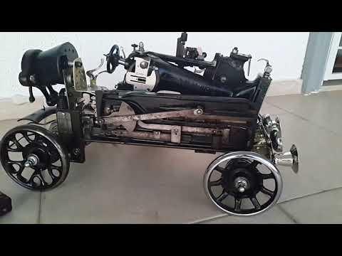 Steampunk style singer  Sewing machine car. Design by A.TARIK DEMIRBAS