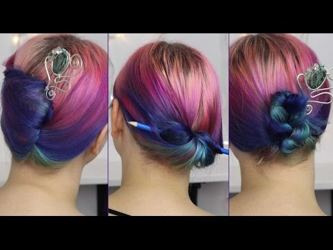 3 ways to put up your hair with a (hair/ chop) stick!