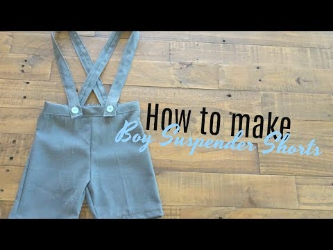 How to make suspender shorts | Thrifted Make Over #10