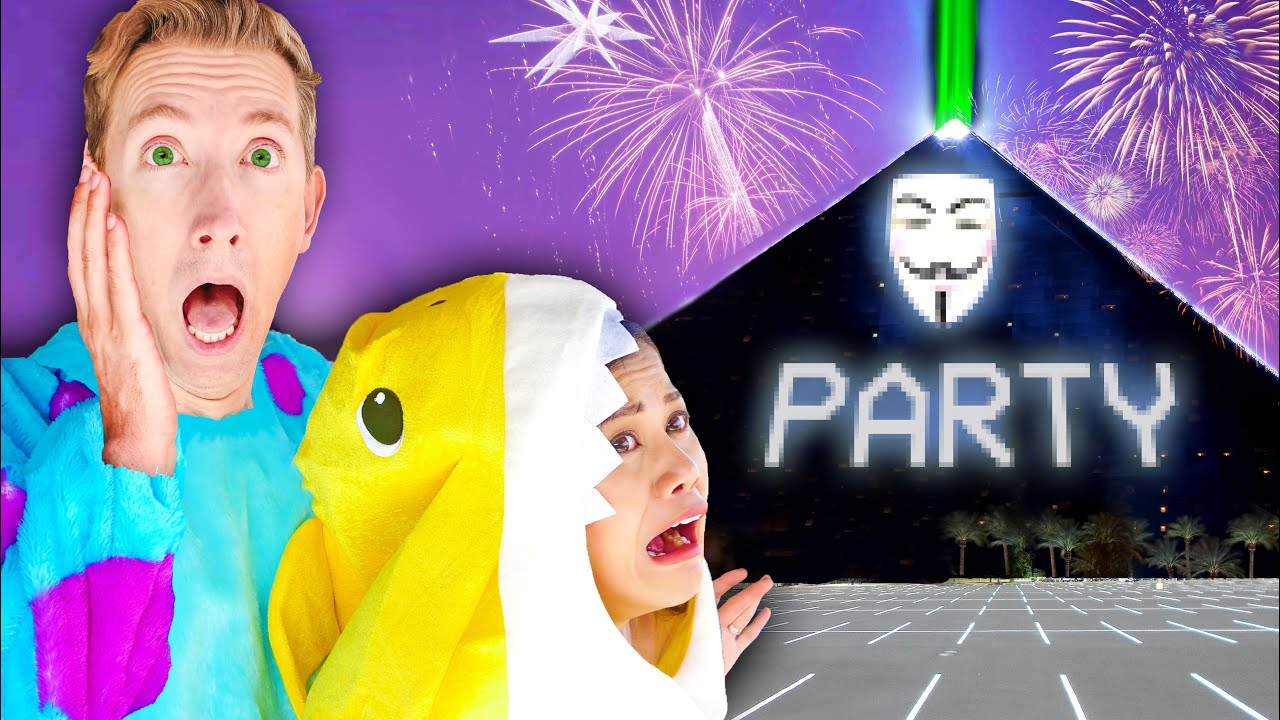 WE SNEAK INTO HACKER HALLOWEEN PARTY at BLACK PYRAMID Going Undercover in Costume Disguises!