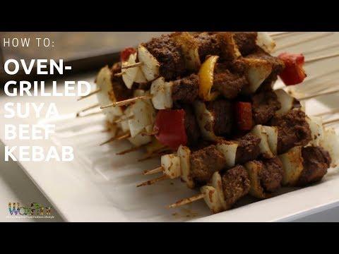 Oven-grilled Suya Beef Kebab