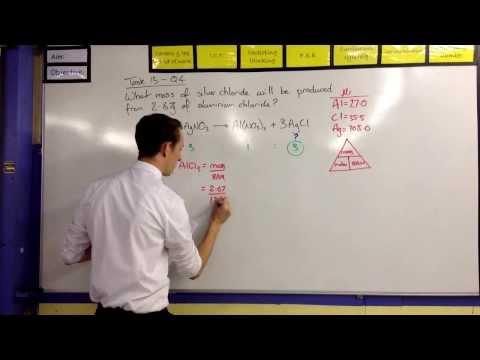 Moles Calculations - Reacting Masses