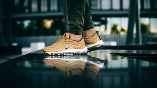 Cheap Nike AIR MAX 97 METALLIC GOLD UNBOXING (ON FEET & REVIEW