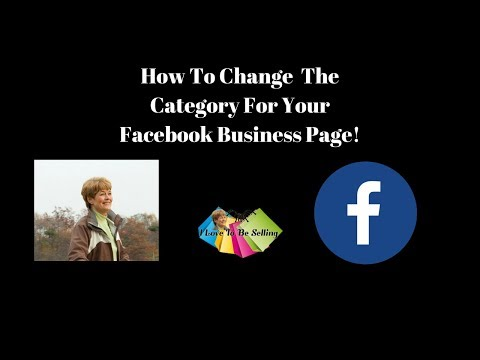 How to change category for your Facebook Business Page