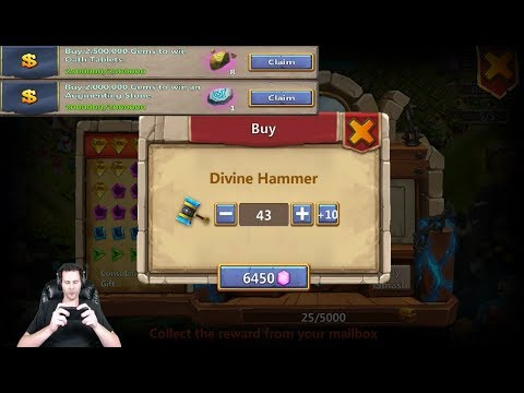 New Rewards For Purchasing 3,000,000 GEMS Also Hammer Tries Castle Clash
