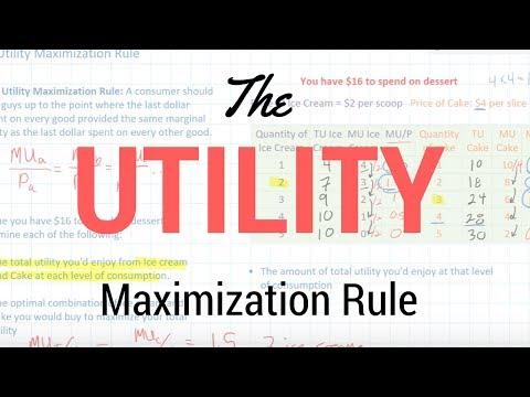 The Utility Maximization Rule