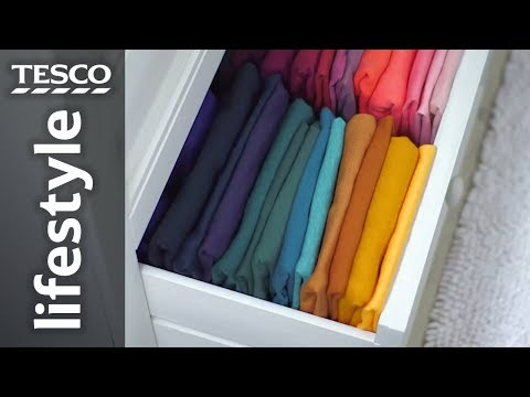 How to fold tops and organise your drawers | Tesco