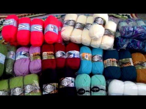 Alize yarn and crocheting blanket. Много пряжи и еще один плед.