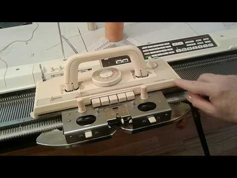 How does a Knitting Machine Work? (Longer version) standard Brother / KnitKing KH930
