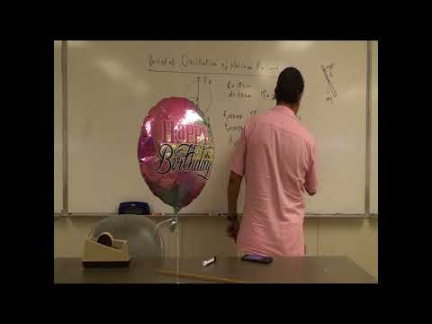 Period of Oscillation and Acceleration of a Helium Balloon