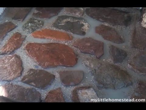 Homemade Mortar - Making  a Simple Rock Entry