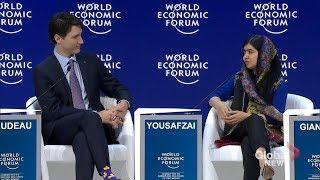 Malala Yousafzai and Justin Trudeau talk education and women