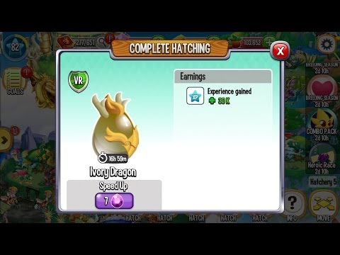 Dragon City Level 82 Got Ivory Dragon and 6th Magma Dragon Egg