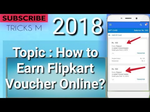 [latest] how to Earn Flipkart Gift Voucher online 2018?