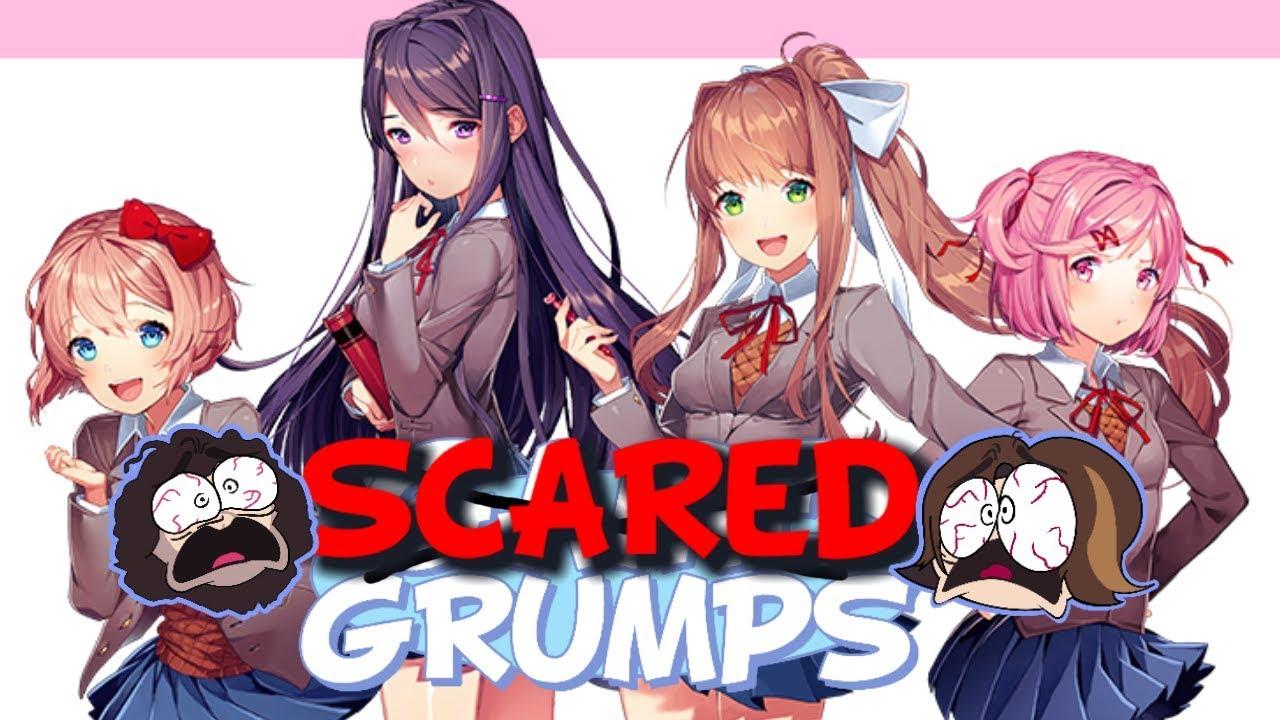 Game Grumps Compilation-Doki Doki Literature Club Creepiest/Scariest Moments