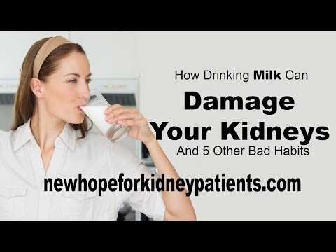 How Drinking Milk Can Damage Your Kidneys And 5 Other Bad Habits