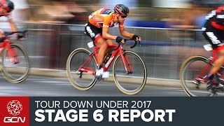 Tour Down Under Stage 6 Race Report