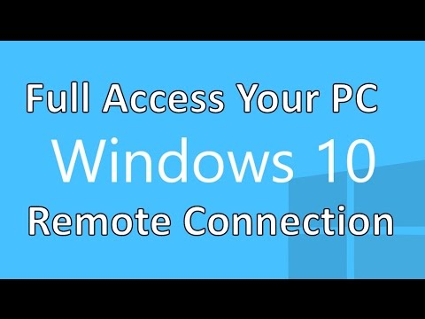 Windows 10 Remote Service - Full Access Other Your Home Pc By Ip Address