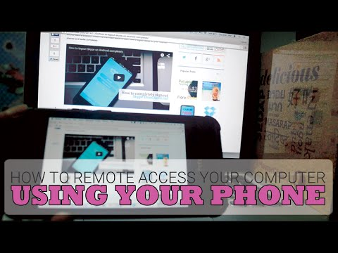 How To Remote Access Your Computer using your Phone for Free