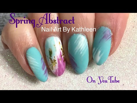 Easy Spring Abstract Nail Art