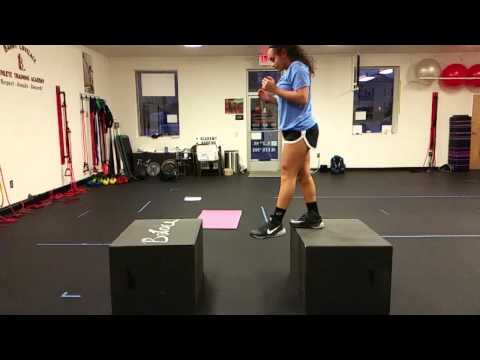 Depth jump to box jump - Increase vertical jump - Volleyball