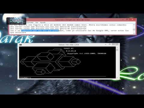 Cambiar las DNS de nuestro Thomson TG585V7 [Windows Xp, Vista,7 y 8] [HD]