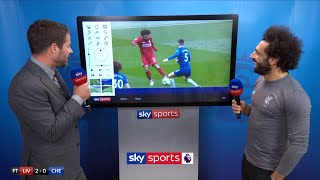 Mo Salah reacts to his SCREAMER against Chelsea!   Super Sunday