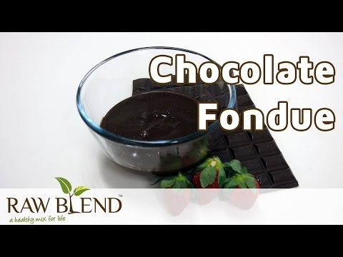 How to Make Fondue (Chocolate Recipe) in a Vitamix 5200 Blender by Raw Blend
