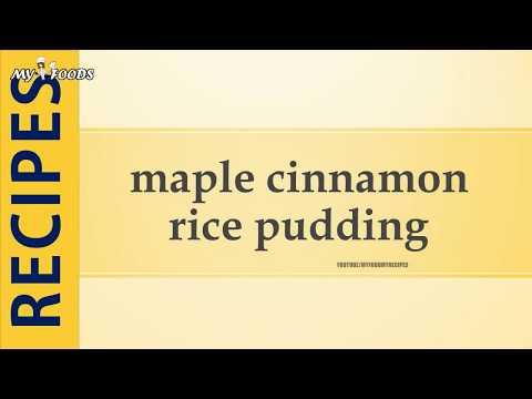 maple cinnamon rice pudding