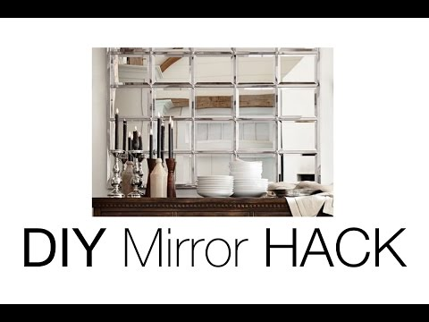 DIY Beveled Mirror | Pottery Barn Mirror HACK!