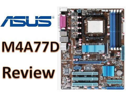 Motherboard ASUS M4A77D ATX Processor support AM3 AM2+ AM2 DDR2 Max 16GB Support Windows 10 Review