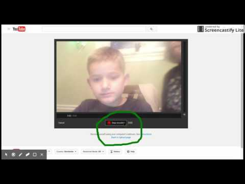 How To Make A Video / Webcast / Webcam Video and Upload it onto YouTube