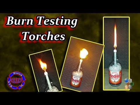 Tiki Torch Burn Test & Safety Check - Time for a Stress Burn