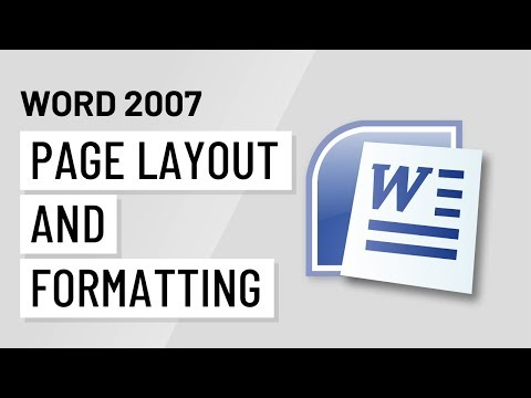 Word 2007: Page Layout and Formatting