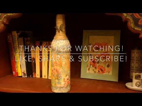 How To Make Wine Bottle Craft | Design #1